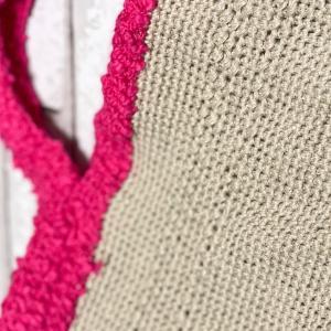 バッグ編めたけど、、、、、やり直し