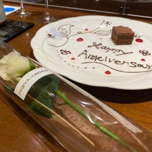 結婚式を挙げたホテルで結婚25周年のお祝い