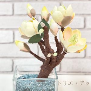 ガラスの花器へのアレンジ2作品【レッスンレポート】