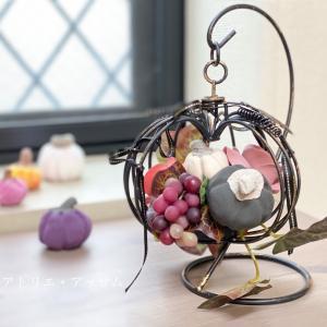 受付開始【単発レッスン】カボチャとバラでハロウィンを飾ろう