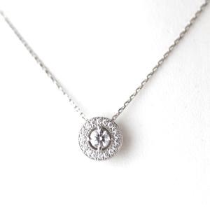 婚約指輪のダイヤを取り巻きのネックレスにリフォームしました。