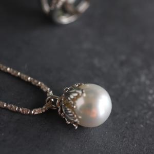 南洋真珠のネックレス。