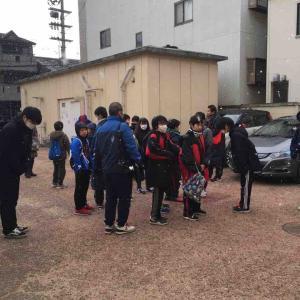 大文字駅伝の応援の生徒達の引率をしました。