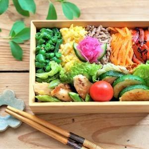 『五色のっけごはんのお弁当』 と 『アナベルと紫式部』