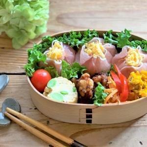 生ハムおにぎりのお弁当 と 『柿しごと』
