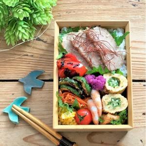 作り置きのおかず と 塩麹煮豚のお弁当