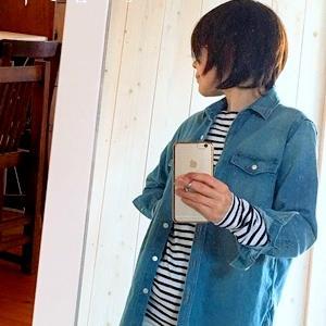 デニムロングフレアスカートコーデならナチュラルファッション好きでもOK!
