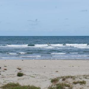10月20日 鳥取 変態女子、金縛りにビビりながら風波サーフィン