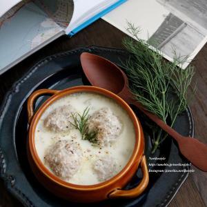 寒い日に身体を温める<れんこんのミートボールミルクスープ>