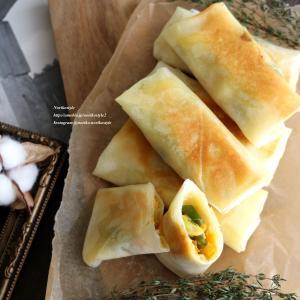 長ねぎと玉子の味噌マヨ焼き春巻き