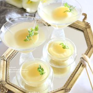 白ワインと桃の大人のゼリー