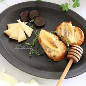 バナナとコンテチーズのハニートースト