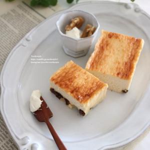 マスカルポーネのハニーレモンチーズケーキ