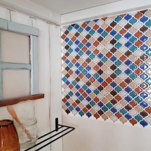 【DIY】変化するクローゼット*part3~セリアのタイルシールの貼り方~