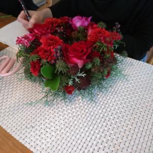 素敵な薔薇を使ってリース