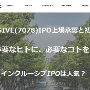 INCLUSIVE(7078)IPO上場承認と初値予想!運用メディア35個で利益億越え