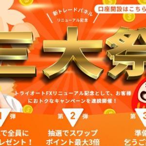 トライオートFXの三大際キャンペーンに参加!6,000円以上貰えるけどデメリットは?