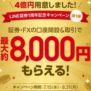 【激震】LINE証券の1周年記念キャンペーン凄すぎ!先着だから急いで申込みます