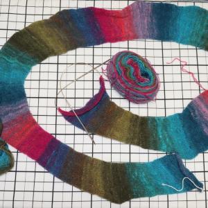 機械編みで野呂スカート【1】