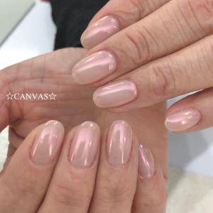 ピンクのミラーパウダー
