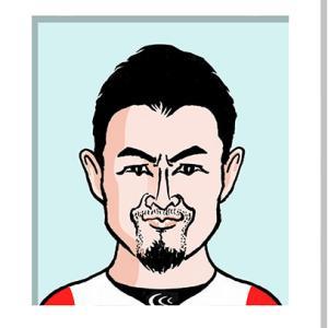田村 優さんの似顔絵(ラグビーワールドカップ日本代表)