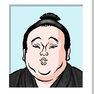 貴景勝さんの似顔絵