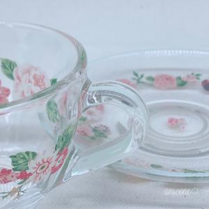 ポーセラーツインストラクターカリキュラム課題ガラスのカップ&ソーサー