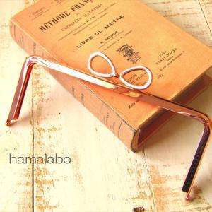 可愛い「ローズゴールド色」のリボン口金を18cm角型と台形型でご用意しました。