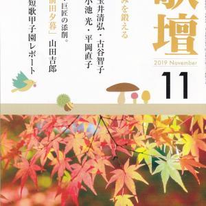 総合歌誌「歌壇」11月号を読む