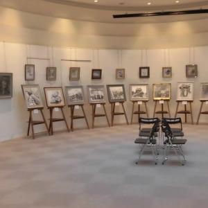 市美術館の水墨画展