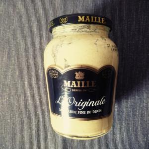 フランスのマスタードと食器代わりに便利なもの