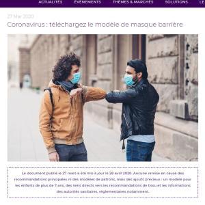 フランスのマスク市販状況と布マスクのチュートリアル