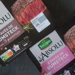 フランスで便利な保存食のステーキとフレンチフライ