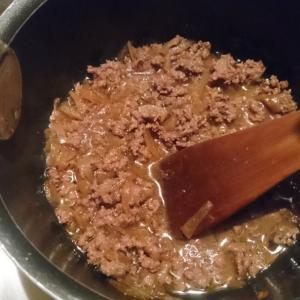 冷凍ミンチでお手軽な牛丼もどき
