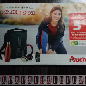 Auchan:フランスのスーパーでシール集め、今回はKappaです!