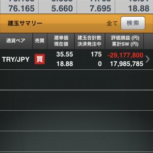 トルコリラ円 6月の収支と1年間を振り返る。