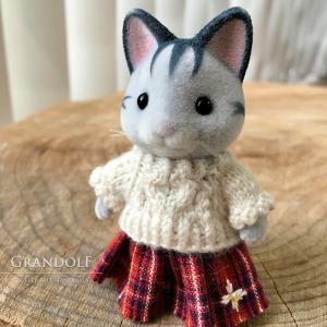 【シルバニア】女の子のセーター&スカート作りました
