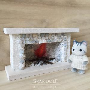 【シルバニア】ハウジング(1)暖炉を作りました。