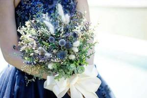 ブルーのドライフラワーブーケ!! (wedding)