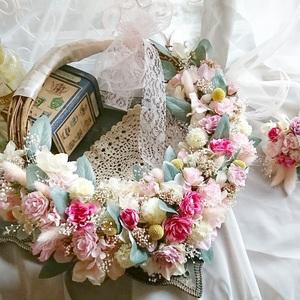 可愛いピンクで…リースブーケ!! (wedding)