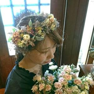 ドライフラワーのヘッドドレス!! (wedding)