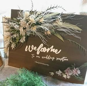 新作 ドライフラワーのwelcomeボード!! (wedding)
