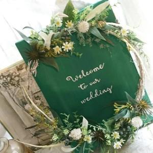 グリーンボードの…welcomeボード!! (wedding)