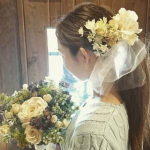 ホワイトチュールのヘッドドレス!! (wedding)