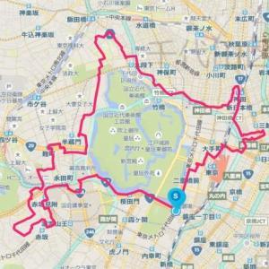 【GPSアート】北海道マラソン in Tokyo