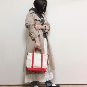 GU390円スカートで春にしたいトレンチコートコーデ