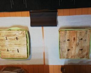 椅子兼用収納ボックスの座面を張り替える 2