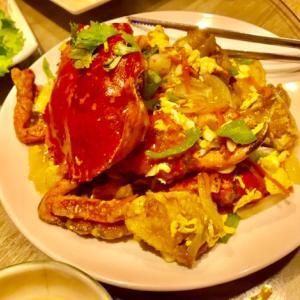 [台湾風の居酒屋9527食堂]秋は蟹がおいしい季節