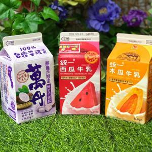 台湾セブンのスイカとパパイヤ・タロ芋ジュース