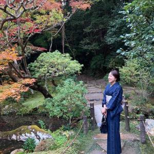 京都へランチと紅葉、着物友さんと初めてのお出かけ